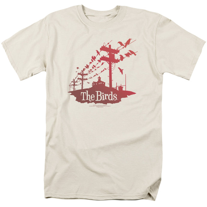 Birds - On A Wire Short Sleeve Adult 18/1 Tee - Special Holiday Gift