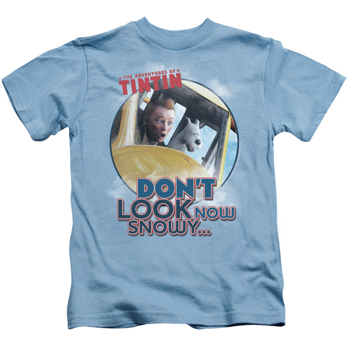 Tintin - Don't Look Now Short Sleeve Juvenile 18/1 Tee - Special Holiday Gift
