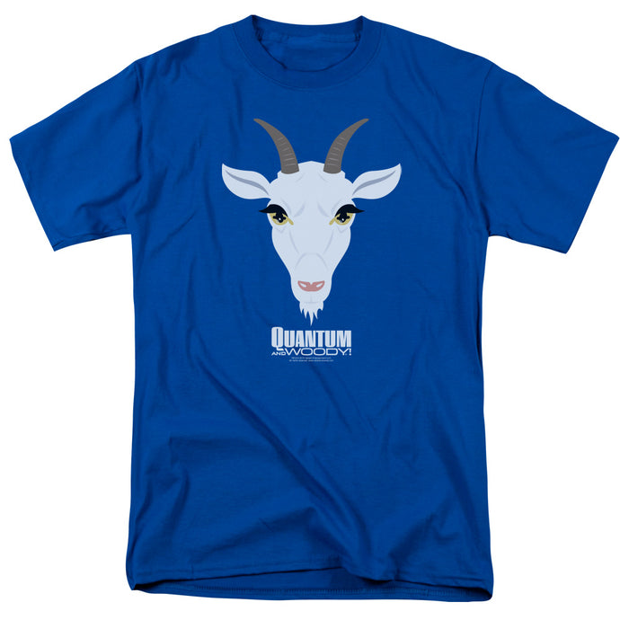 Quantum And Woody - Goat Head Short Sleeve Adult 18/1 Tee - Special Holiday Gift