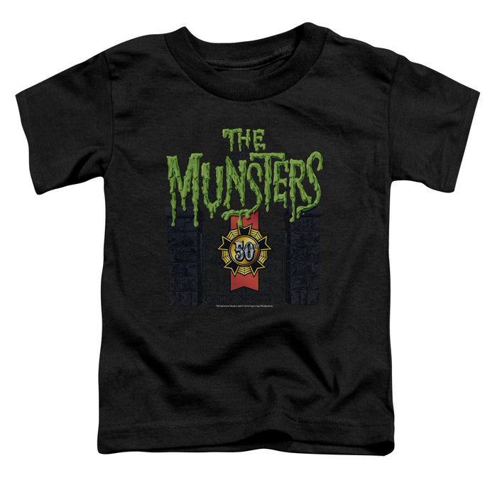 The Munsters - 50 Year Logo Short Sleeve Toddler Tee - Special Holiday Gift