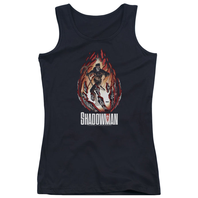 Shadowman - Burst Juniors Tank Top - Special Holiday Gift