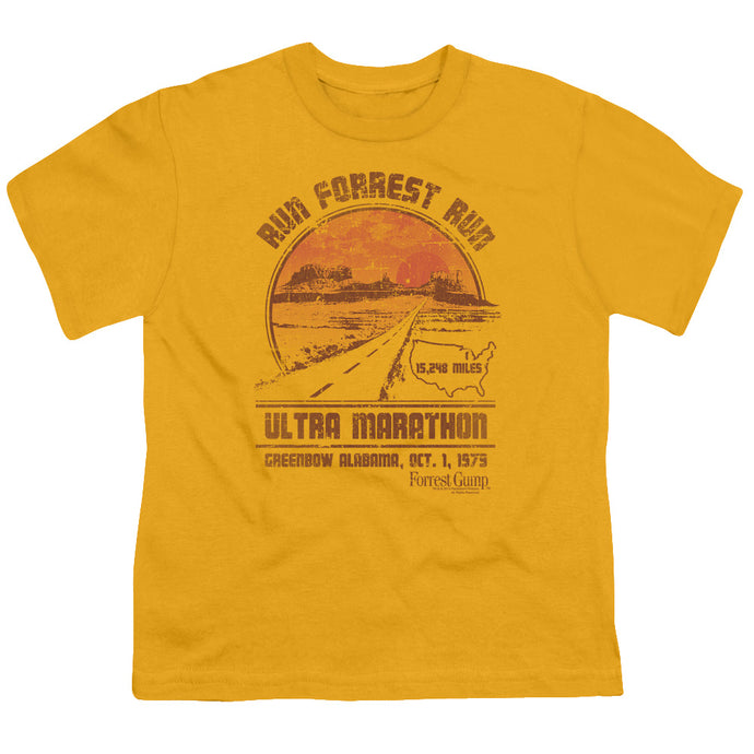 Forrest Gump - Ultra Marathon Short Sleeve Youth 18/1 Tee - Special Holiday Gift