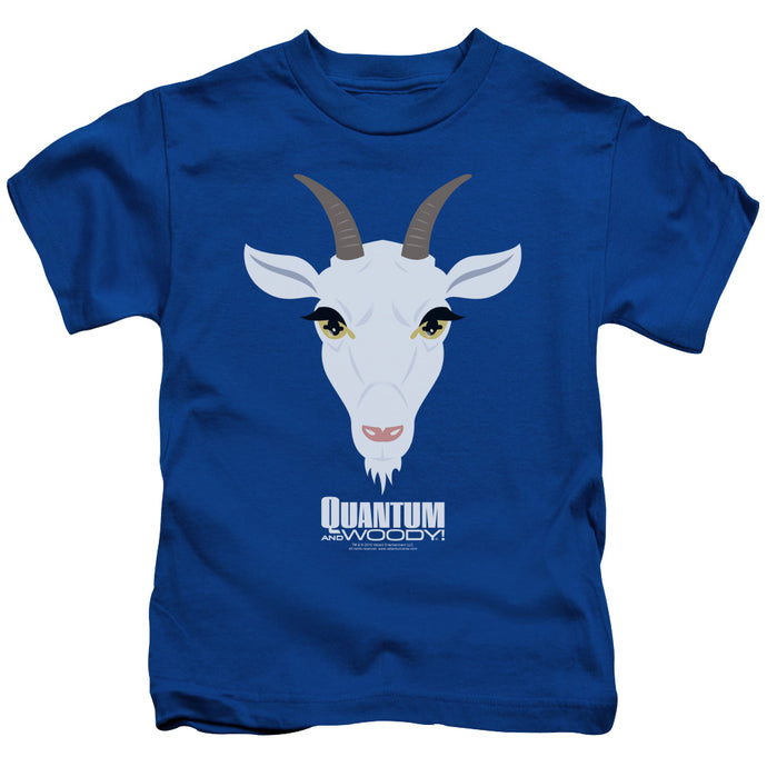 Quantum And Woody - Goat Head Short Sleeve Juvenile 18/1 Tee - Special Holiday Gift
