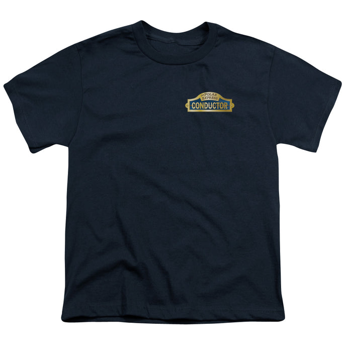 Polar Express - Conductor Short Sleeve Youth 18/1 Tee - Special Holiday Gift