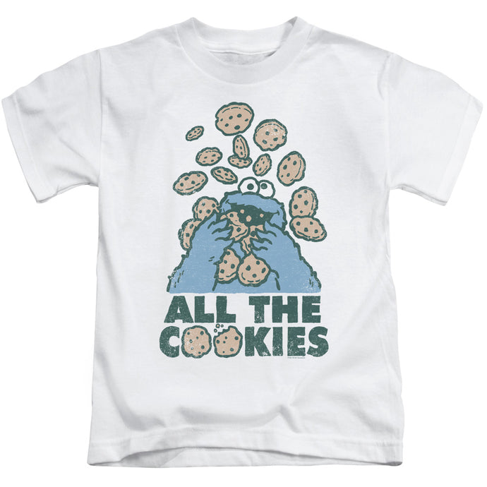 Sesame Street - All The Cookies Short Sleeve Juvenile 18/1 Tee - Special Holiday Gift