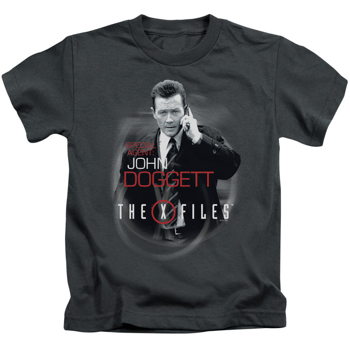 X Files - Doggett Short Sleeve Juvenile 18/1 Tee - Special Holiday Gift