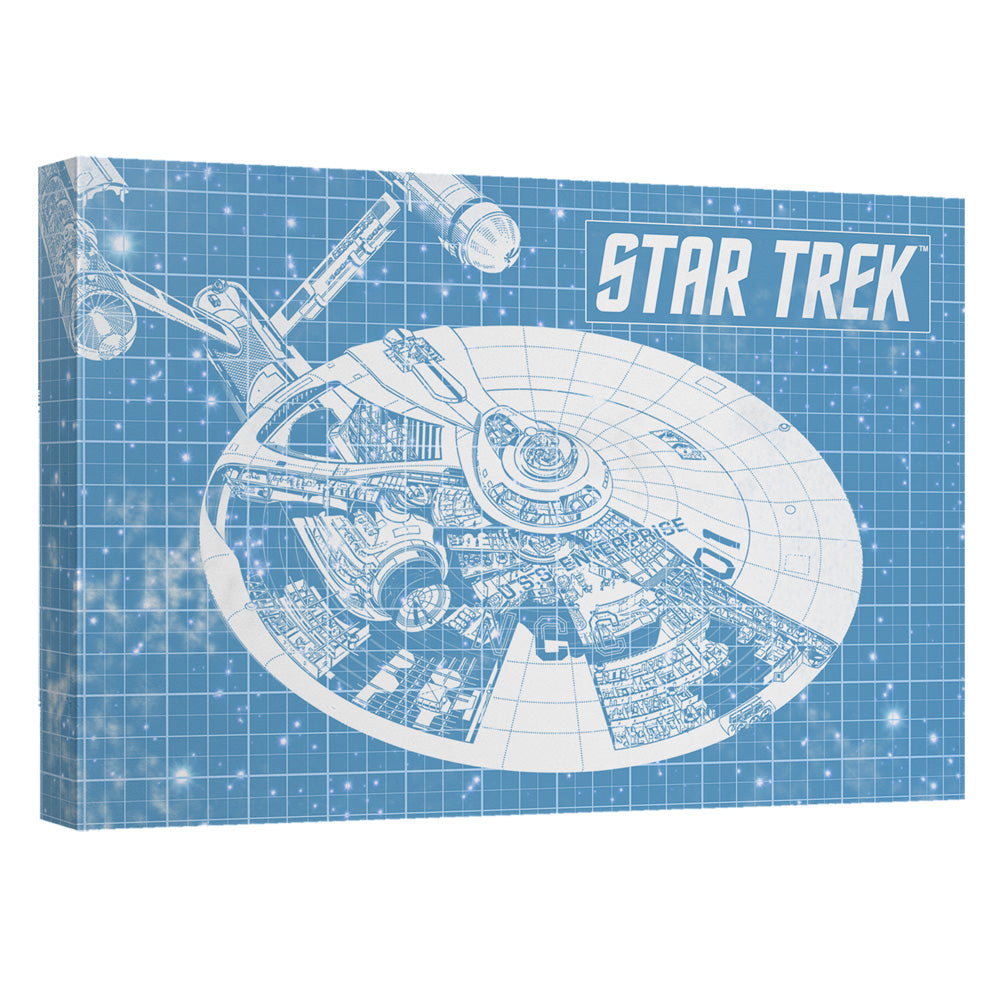 Star trek enterprise blueprint canvas wall art with back board malvernweather Images