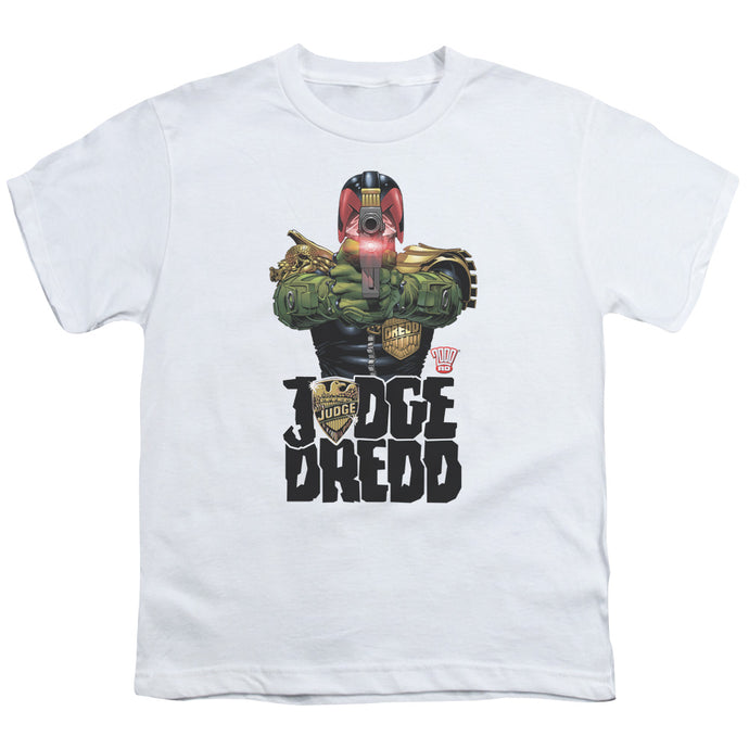 Judge Dredd - In My Sights Short Sleeve Youth 18/1 Tee - Special Holiday Gift