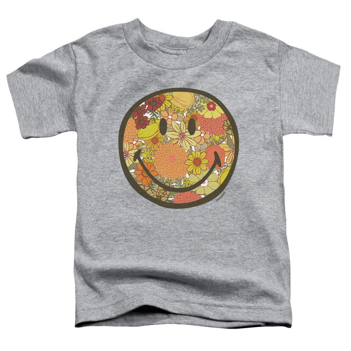 Smiley World - Floral Face Short Sleeve Toddler Tee - Special Holiday Gift