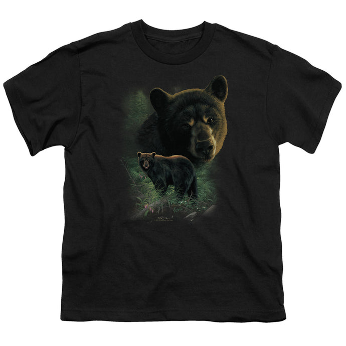 Wildlife - Black Bears Short Sleeve Youth 18/1 Tee - Special Holiday Gift