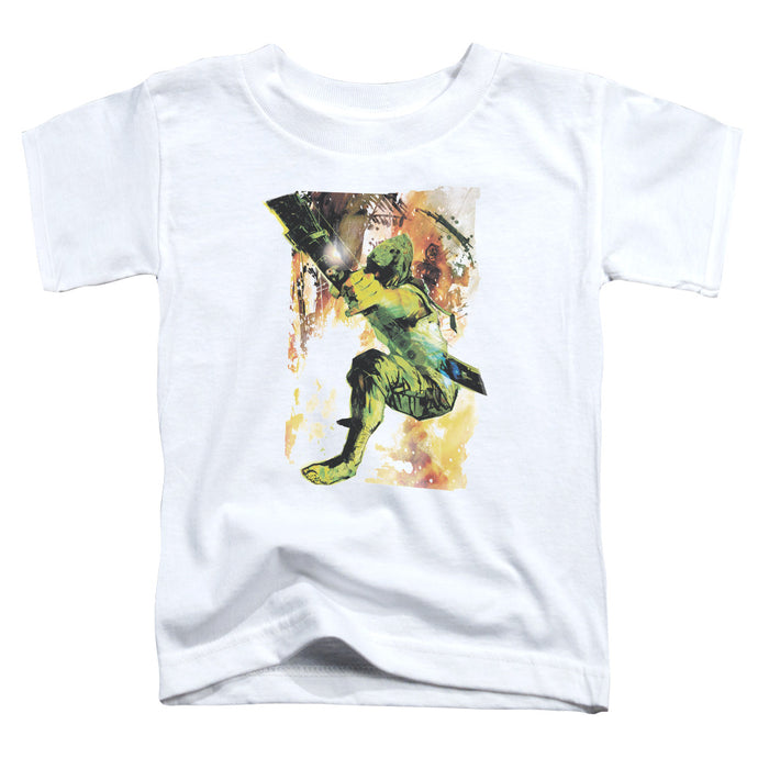 Jla - Painted Archer Short Sleeve Toddler Tee - Special Holiday Gift