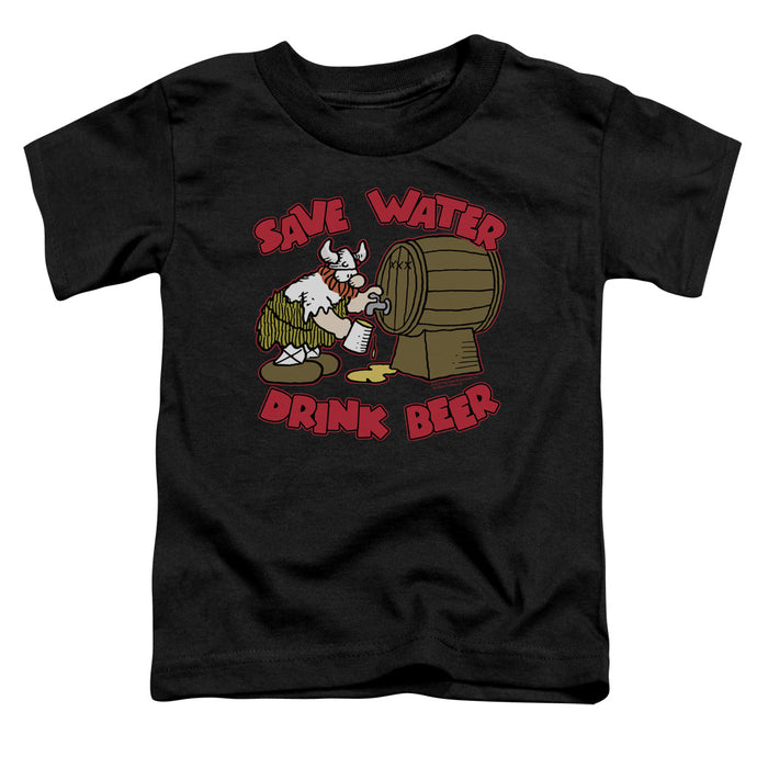 Hagar The Horrible - Save Water Drink Beer Short Sleeve Toddler Tee - Special Holiday Gift