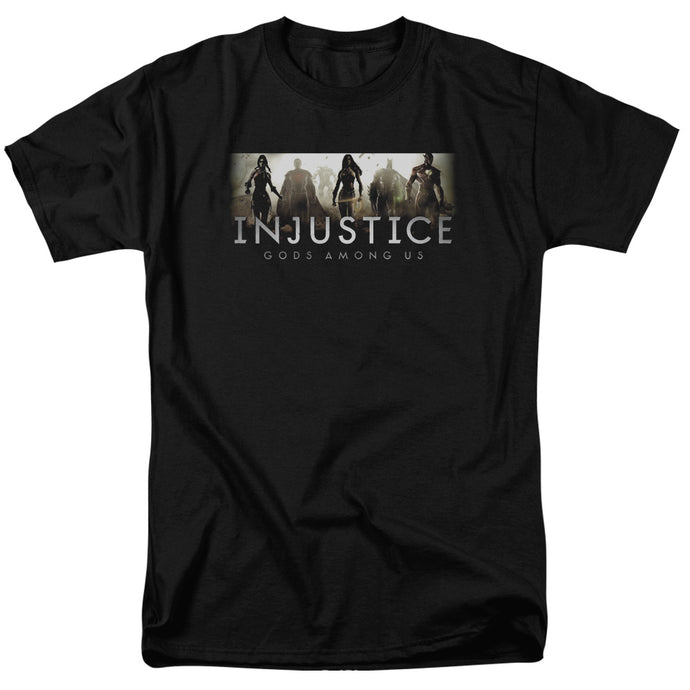 Injustice Gods Among Us - Logo Short Sleeve Adult 18/1 Tee - Special Holiday Gift