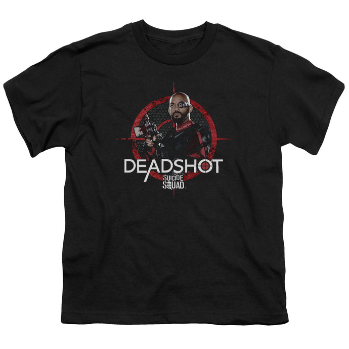 Suicide Squad - Deadshot Target Short Sleeve Youth 18/1 Tee - Special Holiday Gift
