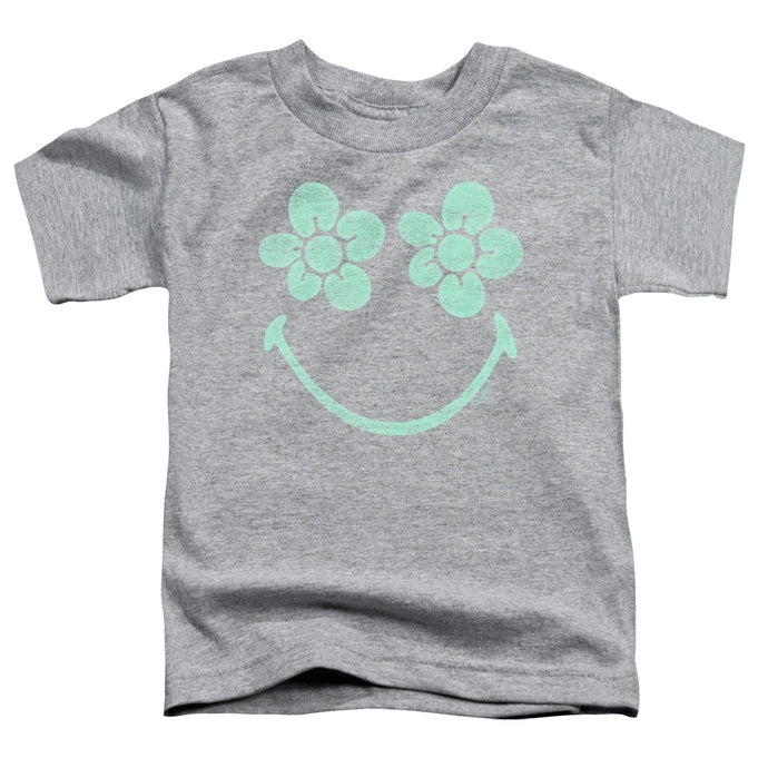 Smiley World - Flower Face Short Sleeve Toddler Tee - Special Holiday Gift