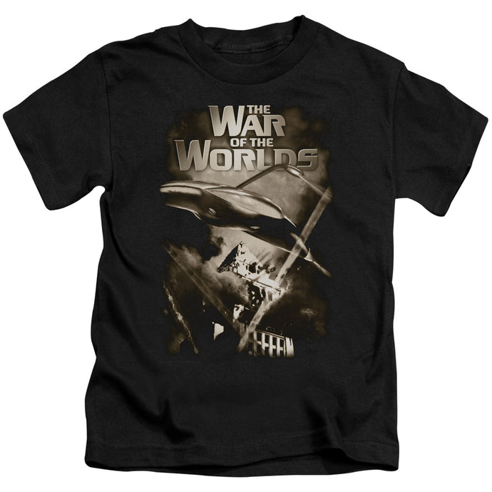 War Of The Worlds - Death Rays Short Sleeve Juvenile 18/1 Tee - Special Holiday Gift
