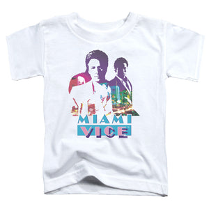 Miami Vice - Crockett And Tubbs Short Sleeve Toddler Tee - Special Holiday Gift