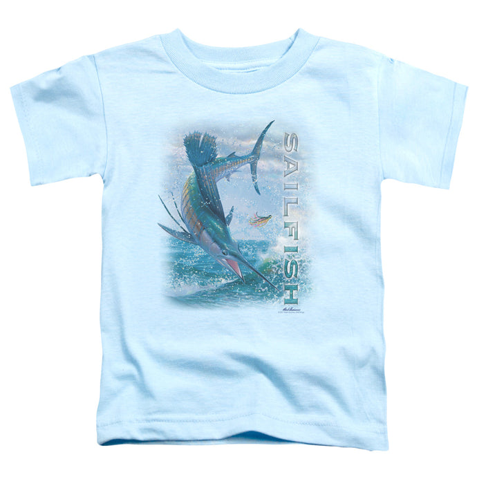 Wildlife - Leaping Sailfish Short Sleeve Toddler Tee - Special Holiday Gift