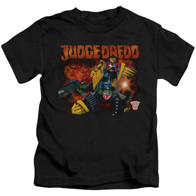 Judge Dredd - Through Fire Short Sleeve Juvenile 18/1 Tee - Special Holiday Gift