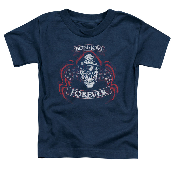 Bon Jovi - Forever Skull Short Sleeve Toddler Tee - Special Holiday Gift