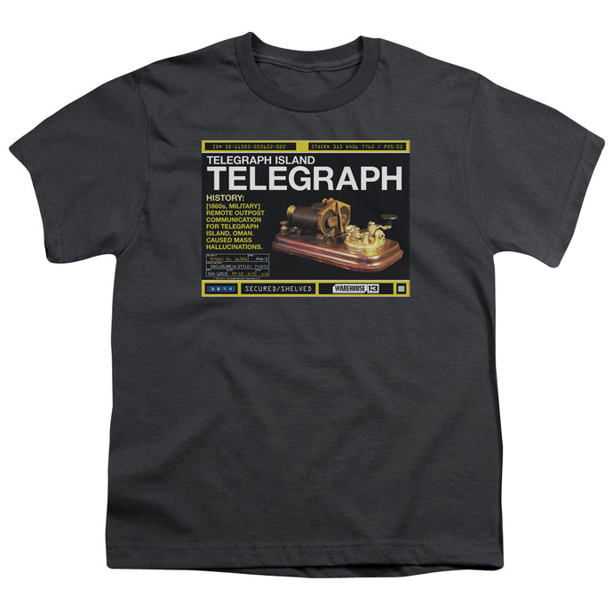 Warehouse 13 - Telegraph Island Short Sleeve Youth 18/1 Tee - Special Holiday Gift