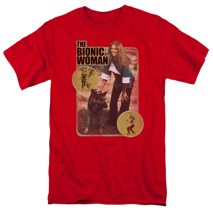 Bionic Woman - Jamie And Max Short Sleeve Adult 18/1 Tee - Special Holiday Gift