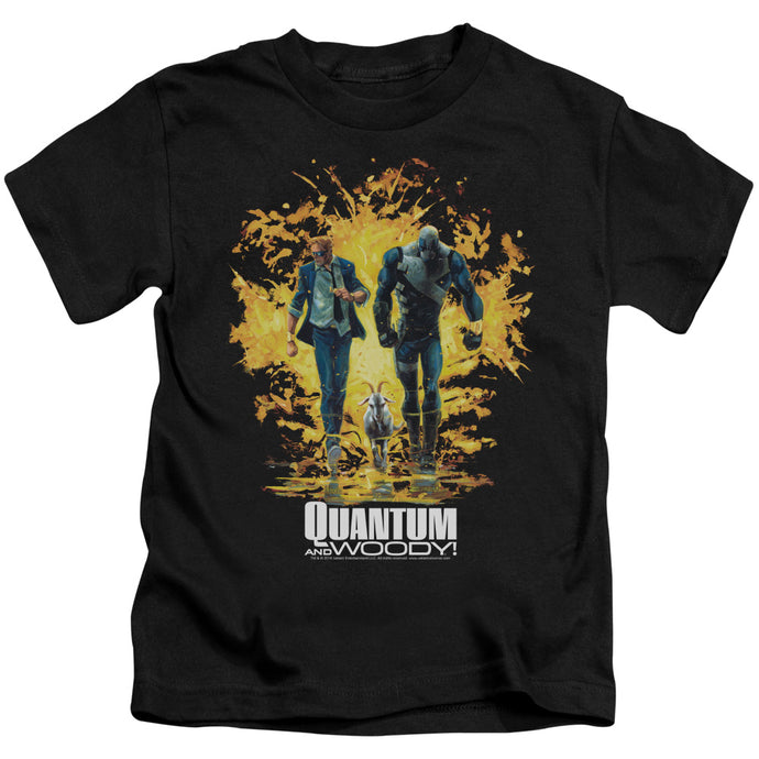 Quantum And Woody - Explosion Short Sleeve Juvenile 18/1 Tee - Special Holiday Gift