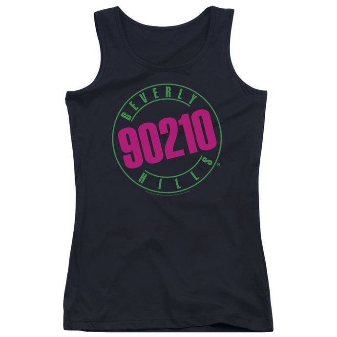 90210 - Neon Juniors Tank Top - Special Holiday Gift