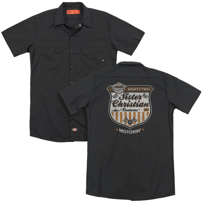 Night Ranger - Motorin(Back Print) Adult Work Shirt - Special Holiday Gift