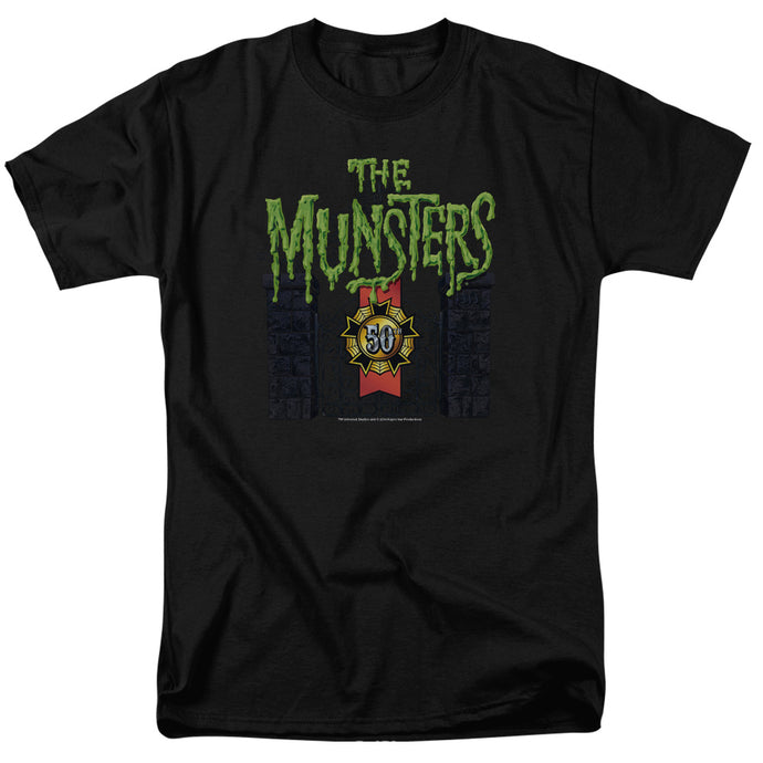 The Munsters - 50 Year Logo Short Sleeve Adult 18/1 Tee - Special Holiday Gift