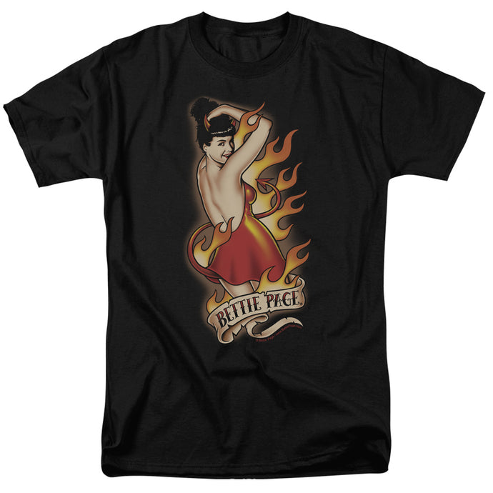 Bettie Page - Devil Tattoo Short Sleeve Adult 18/1 Tee - Special Holiday Gift