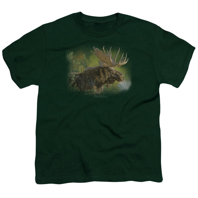 Wildlife - Crisp Fall Morning Short Sleeve Youth 18/1 Tee - Special Holiday Gift