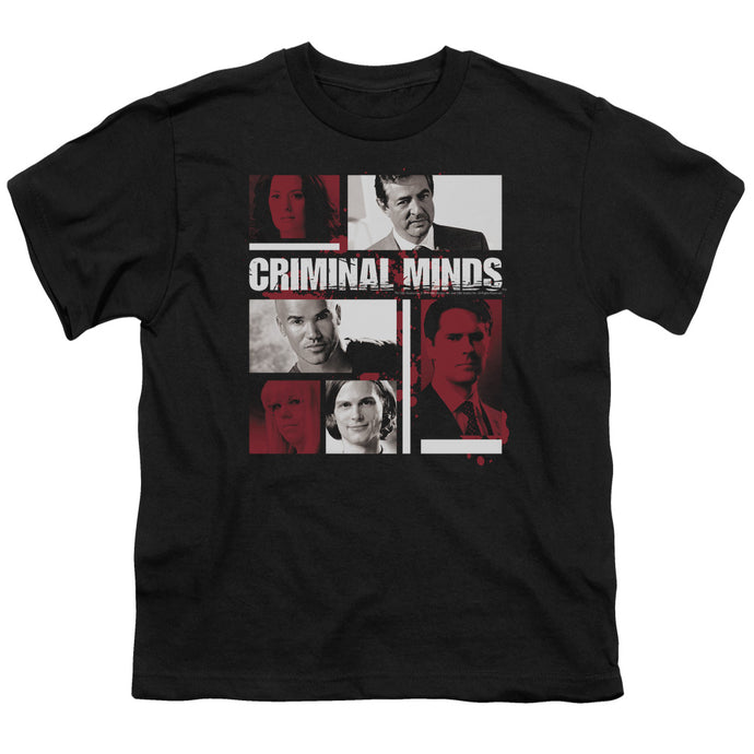 Criminal Minds - Character Boxes Short Sleeve Youth 18/1 Tee - Special Holiday Gift