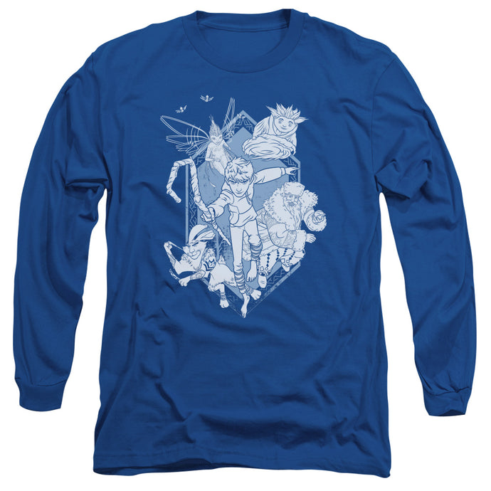 Rise Of The Guardians - Coming For You Long Sleeve Adult 18/1 Tee - Special Holiday Gift