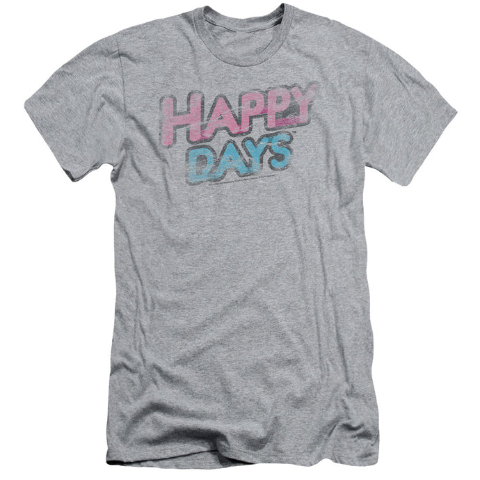 Happy Days - Distressed Short Sleeve Adult 30/1 Tee - Special Holiday Gift