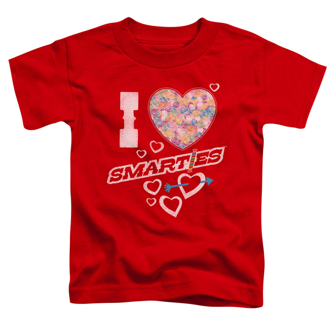 Smarties - I Heart Smarties Short Sleeve Toddler Tee - Special Holiday Gift