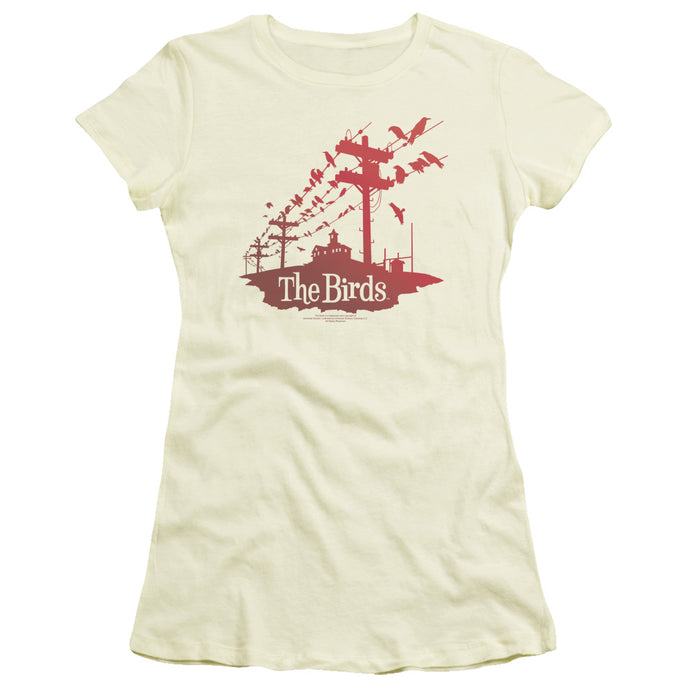 Birds - On A Wire Short Sleeve Junior Sheer - Special Holiday Gift