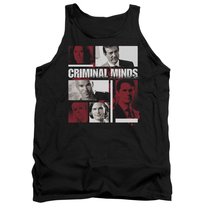 Criminal Minds - Character Boxes Adult Tank - Special Holiday Gift
