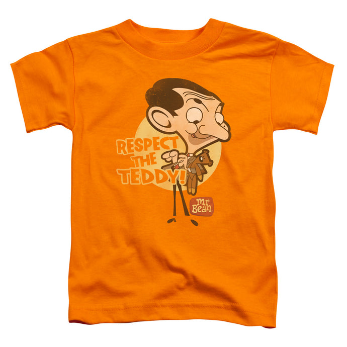 Mr Bean - Respect The Teddy Short Sleeve Toddler Tee - Special Holiday Gift