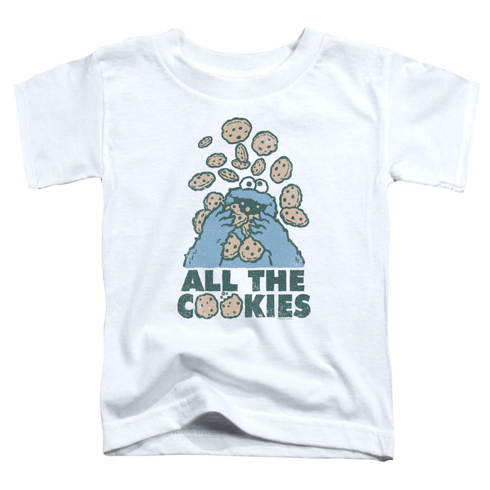 Sesame Street - All The Cookies Short Sleeve Toddler Tee - Special Holiday Gift