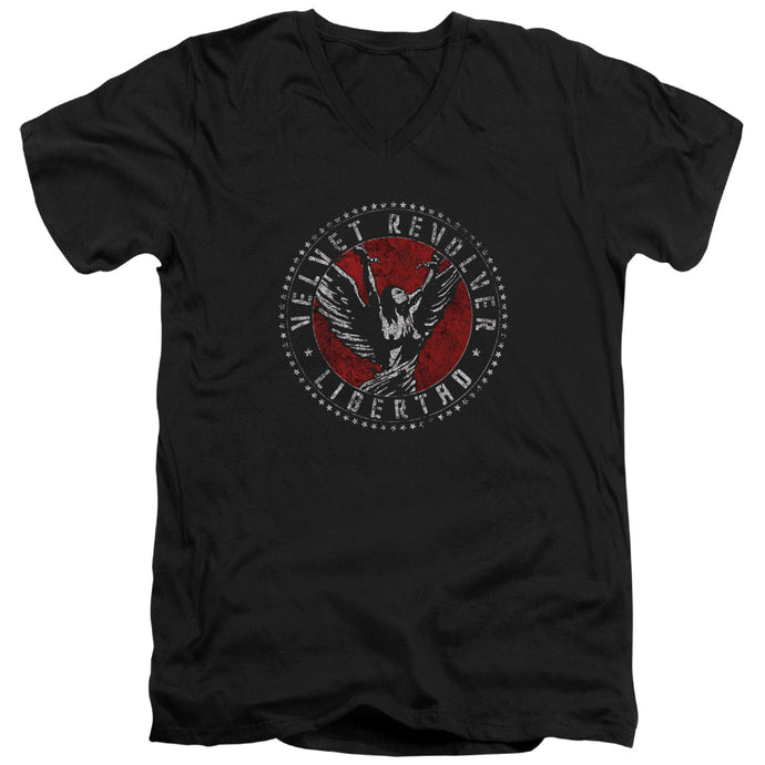 Velvet Revolver - Circle Logo Short Sleeve Adult V Neck Tee - Special Holiday Gift