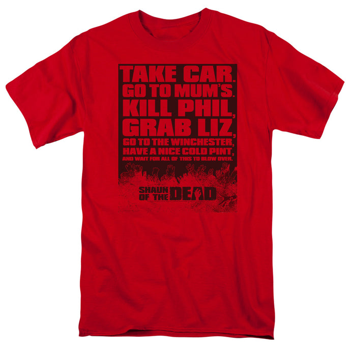 Shaun Of The Dead - List Short Sleeve Adult 18/1 Tee - Special Holiday Gift
