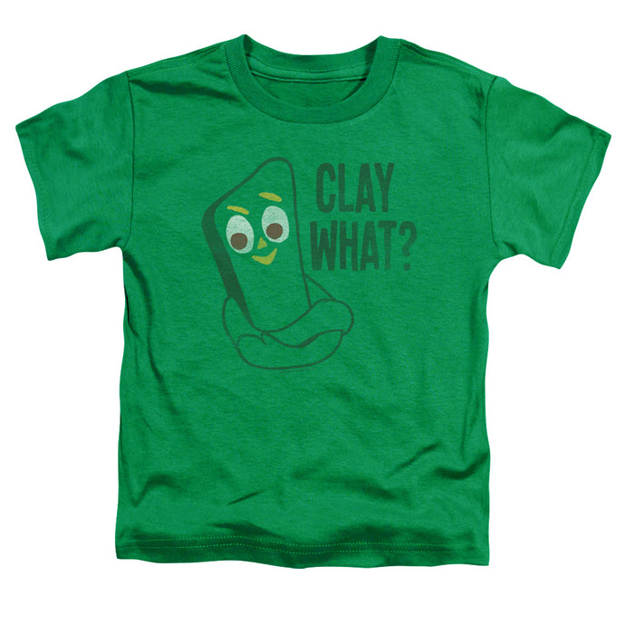 Gumby - Clay What Short Sleeve Toddler Tee - Special Holiday Gift