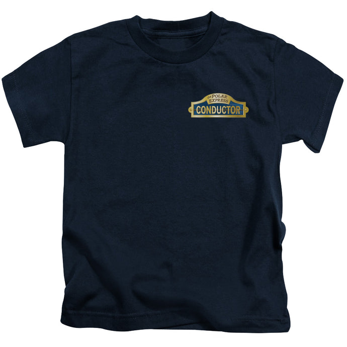 Polar Express - Conductor Short Sleeve Juvenile 18/1 Tee - Special Holiday Gift