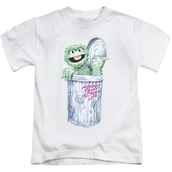 Sesame Street - About That Street Life Short Sleeve Juvenile 18/1 Tee - Special Holiday Gift
