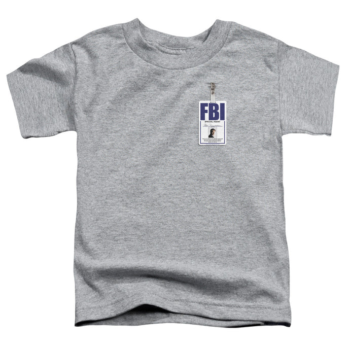 X Files - Mulder Badge Short Sleeve Toddler Tee - Special Holiday Gift