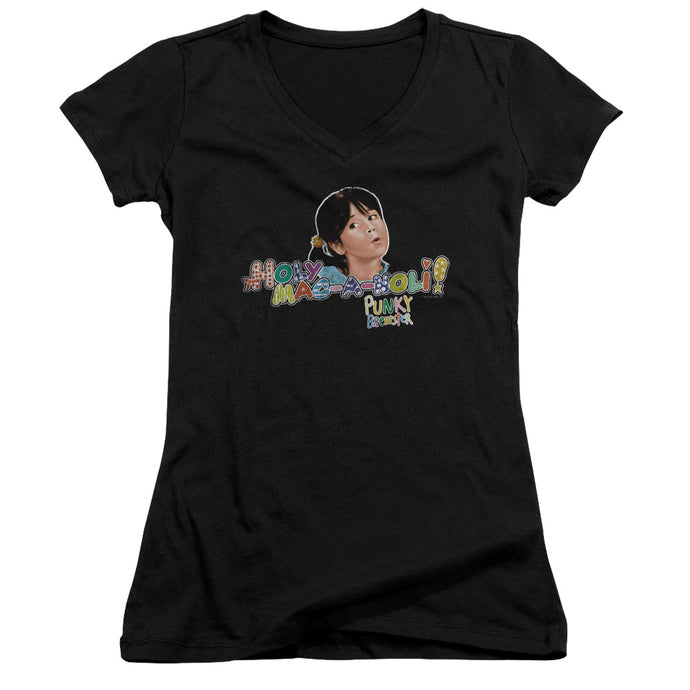 Punky Brewster - Holy Mac A Noli Junior V Neck Tee - Special Holiday Gift