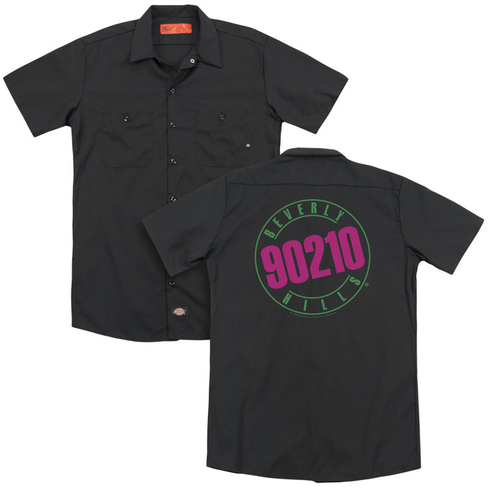 90210 - Neon (Back Print) Adult Work Shirt - Special Holiday Gift