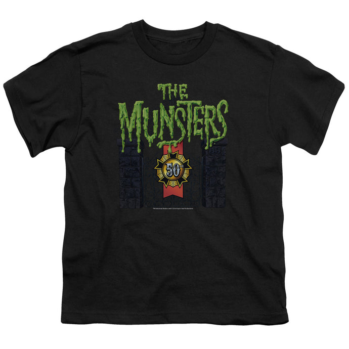 The Munsters - 50 Year Logo Short Sleeve Youth 18/1 Tee - Special Holiday Gift