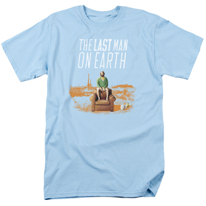 Last Man On Earth - Phil On Chair Short Sleeve Adult 18/1 Tee - Special Holiday Gift